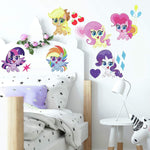 My Little Pony Let's Get Magical Peel and Stick 25 Removable Wall Decals - Pinkie Pie, Twilight Sparkle, Rarity Decor Stickers