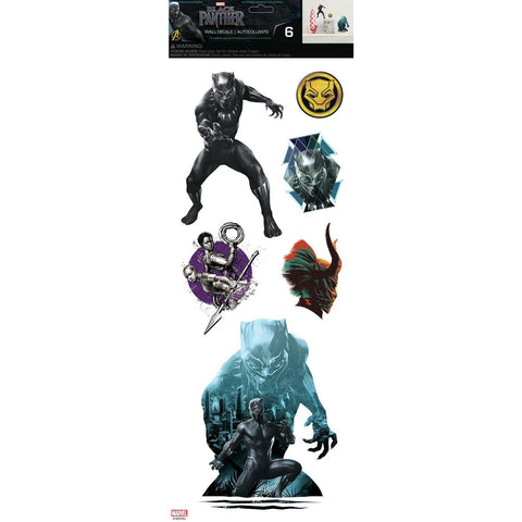 Black Panther Characters Wall Decals 6 Peel & Stick Wall Decor Stickers - EonShoppee