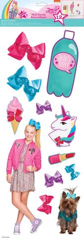 JOJO SIWA Cute & Confident Peel And Stick 12 Wall Decals - EonShoppee
