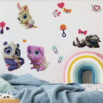 Junior T.O.T.S. Peel and Stick Baby Animals Wall Decals Nursery Decor Stickers by Disney