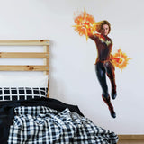 "Captain Marvel Peel and Stick Giant Wall Decals - 45"" Tall Assembled Licensed By Marvel - EonShoppee"