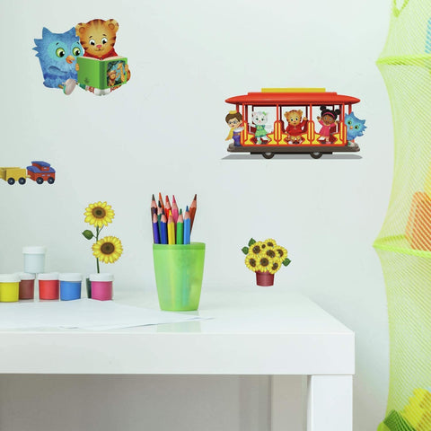 Daniel Tiger Peel and Stick 20 Wall Decals Playful Kids Room Nursery Decor Stickers - EonShoppee