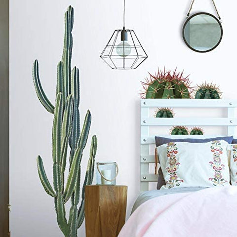 Cactus Giant Peel and Stick Wall Decals 9 Home Decor Cacti Stickers For Desert Look - EonShoppee