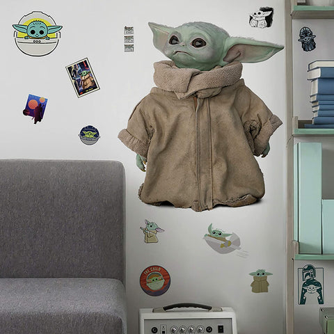 The Mandalorian: The Child Peel and Stick Wall Decals 25 Baby Yoda Wall Stickers - EonShoppee
