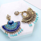 Lovely Royal Blue Big Beads Tassel Pendant Drop Dangle Fashion Jewelry Earrings - EonShoppee