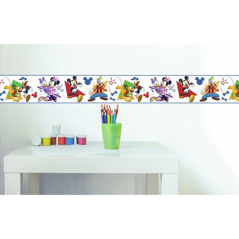 Disney Mickey & Friends Peel And Stick Border Kids Room Decor Wallpaper  Mickey Mouse Clubhouse - EonShoppee