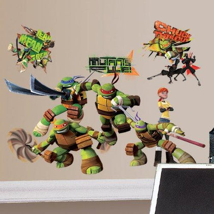 Teenage Mutant Ninja Turtles Peel And Stick Wall Decals - EonShoppee