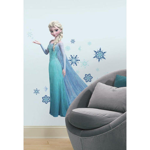 Disney Frozen Elsa Giant Peel And Stick Wall Decals with Glitter - EonShoppee