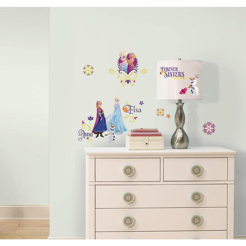 "Disney Frozen Spring Elsa Anna ""Forever Sisters"" Peel & Stick Wall Decals - EonShoppee"