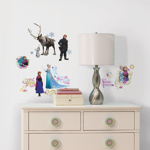 Disney Frozen Family Peel And stick Wall Decals with Glitter - EonShoppee