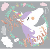 Unicorn Magic Peel And Stick Giant Wall Decals with Glitter - EonShoppee