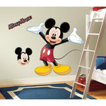 Disney Mickey Mouse Peel & Stick Giant Wall Decals Nursery Decor Stickers