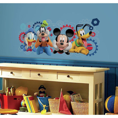 Disney Mickey Mouse Clubhouse Capers Giant Wall Decals - Kids Room Decor Mickey Stickers