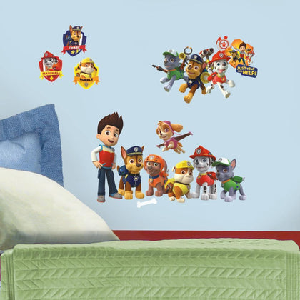 Paw Patrol Peel And Stick Wall Decals - EonShoppee