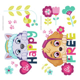 Paw Patrol Skye and Everest Be Happy Quote Peel & Stick Wall Decals Girls Paw Patrol Stickers - EonShoppee