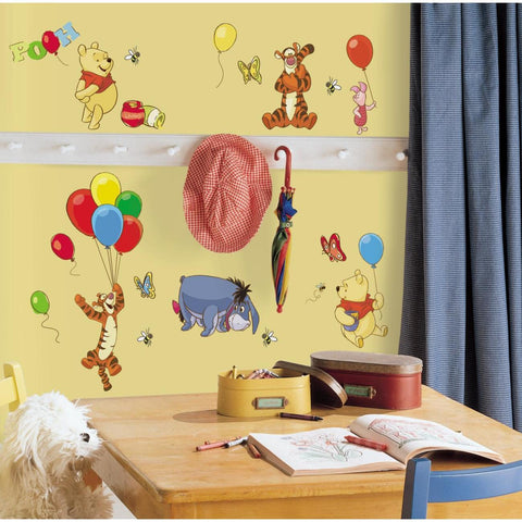 Disney WINNIE THE POOH 38 Peel & Stick Wall Stickers Tigger Eeyore Room Decor Decals