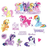 MY LITTLE PONY MOVIE 18 GLITTER Wall Decals STICKERS Ponies Horses Decor NEW