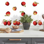 Country Apples Stars & Berries Peel And Stick Wall Decals Kitchen Decor Stickers