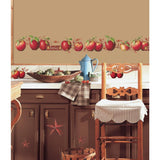 Country Apples Stars & Berries Peel And Stick Wall Decals Kitchen Decor Stickers - EonShoppee