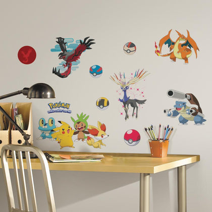 Pokemon XY Peel And Stick Wall Decals - EonShoppee
