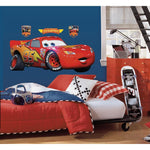 Disney Cars Lightening Mcqueen Giant Wall Decal Racing Decor - EonShoppee