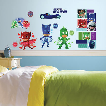 New PJ Masks Wall Decals Superheroes 13 Room Decor Stickers - EonShoppee