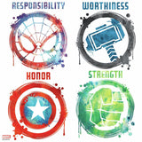 MARVEL ICON Wall Decals Captain America Hulk Spider-Man Thor Stickers Decor New