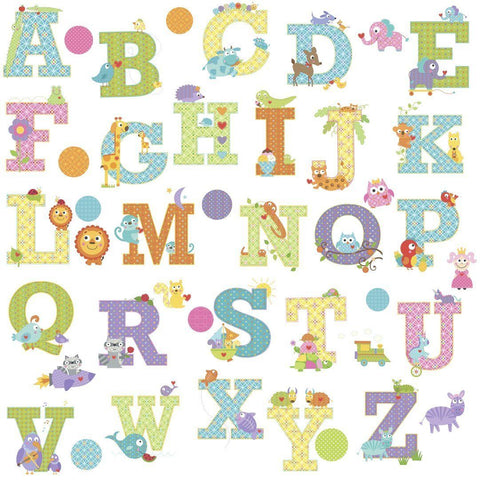 Happi Animal Alphabet Wall Decals ABC LETTERS - EonShoppee
