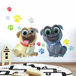 PUPPY DOG PALS 13 Giant Wall Decals Paw prints Stickers Decor