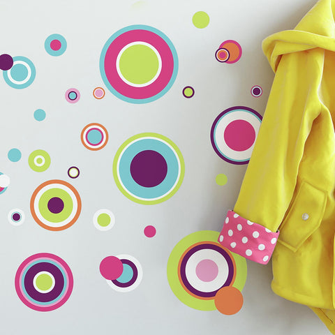 Crazy Polka Dots Peel And Stick Wall Decals - EonShoppee