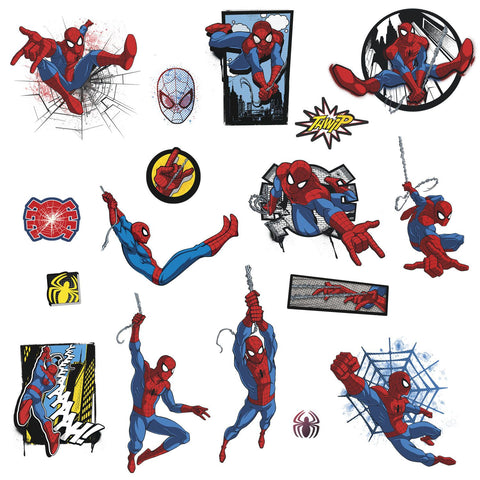 Marvel ULTIMATE SPIDER-MAN COMIC Wall Decals Superhero Spider Man Stickers