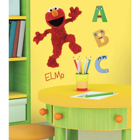 Sesame Street Giant Elmo Peel And Stick Wall Decals - EonShoppee
