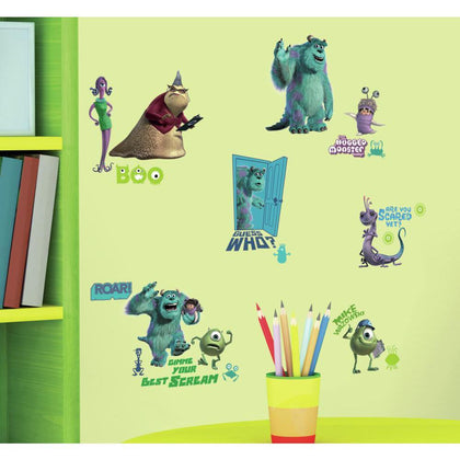 DISNEY MONSTERS INC 31 BiG Wall Decals Mike Sulley Boo Celia Room Decor Stickers - EonShoppee