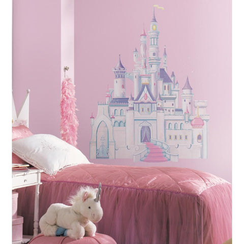 DISNEY PRINCESS CASTLE - Giant Wall Mural Decal Girls Room Decor Stickers - EonShoppee