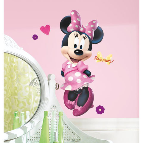 Giant MINNIE MOUSE BOW-TIQUE Peel & Stick Wall Decals Boutique Disney Girls Room Decor Stickers