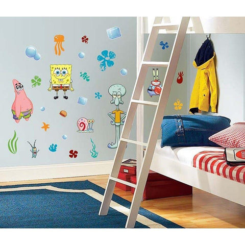 45 New SPONGEBOB SQUAREPANTS WALL DECALS Kids Bedroom Stickers