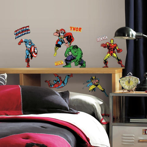 New Marvel Classic Superheroes Avengers Wall Decals Room Decor Stickers
