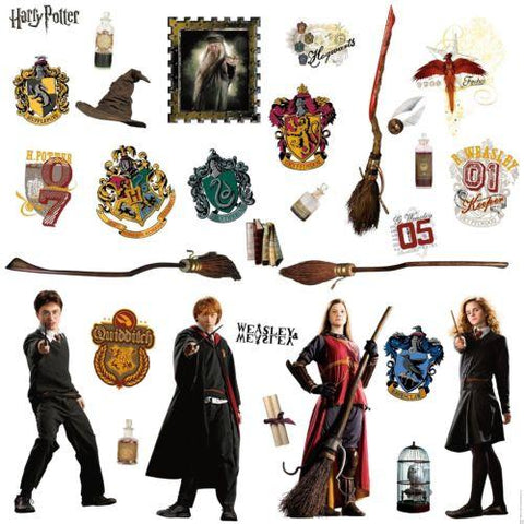 HARRY POTTER WALL DECALS 30 New Stickers Ron Hermoine Hogwarts Decor
