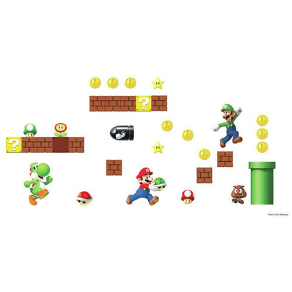 SUPER MARIO Bricks Coins Wall Decals 45 NEW Stickers Luigi Nintendo Room Decor - EonShoppee