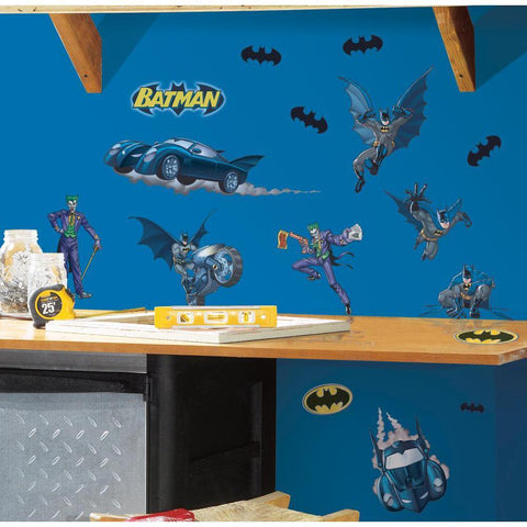 BATMAN GOTHAM Removable Vinyl Wall Decals BATMOBILE Room Decor 31 Big Stickers - EonShoppee