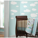 White CLOUDS 19 Peel & Stick  Wall Decals Baby Nursery Stickers Kids Room Decor