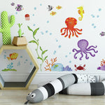 Adventures Under The Sea Peel And Stick Wall Decals - EonShoppee