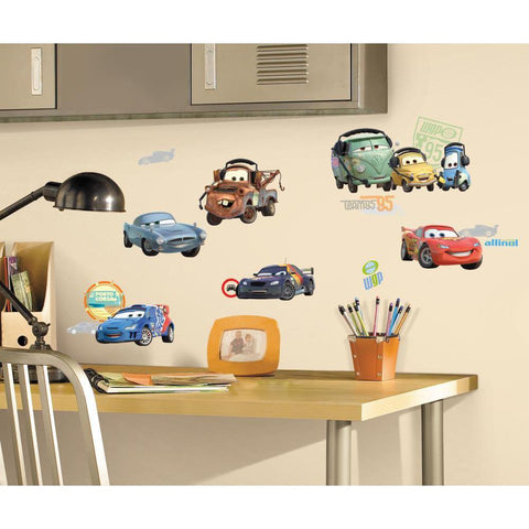 Disney CARS 2 MOVIE WALL DECALS Lightning McQueen Mater Stickers Decor - EonShoppee