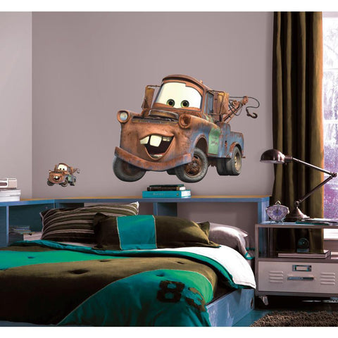 DISNEY MATER Giant Wall Decals Cars Tow Truck Stickers Movie Room Decor - EonShoppee