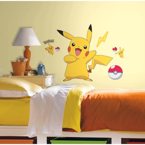 Pokemon Pikachu Giant Peel And Stick Wall Decals - EonShoppee