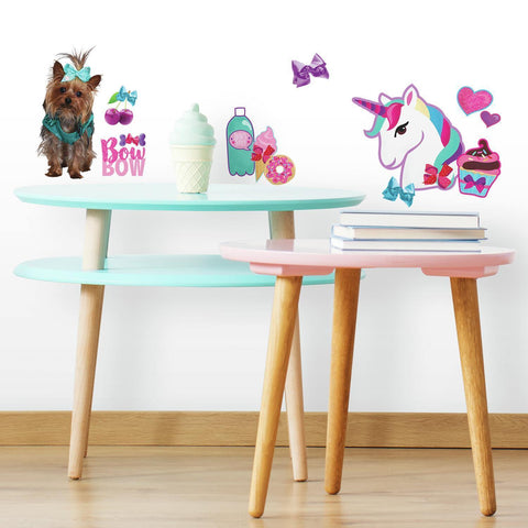 JoJo Siwa Cute and Confident Peel and Stick Wall Decals with Glitter