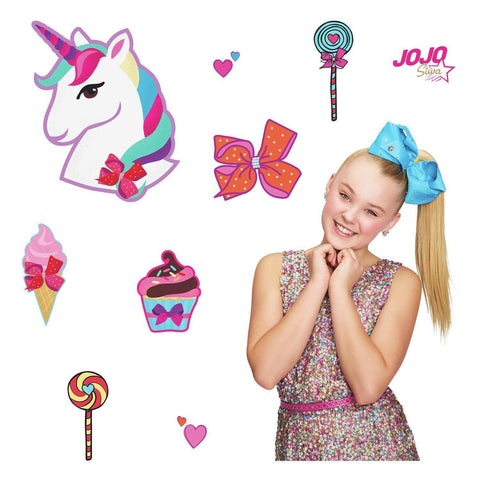 JoJo Siwa Unicorn Dream Peel and Stick Giant Wall Decals Fun Candy Decor