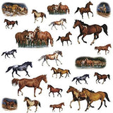 24 WILD HORSES BiG Wall Stickers Rustic Room Decals Ranch Mustang Arabian Decor