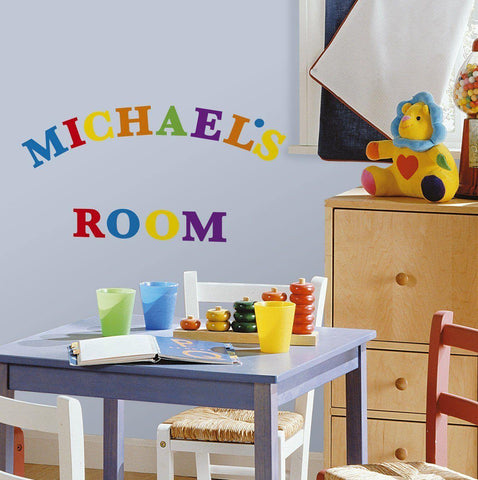 Express Yourself Colorful Primary Alphabets Peel & Stick 73 Wall Decals School Nursery Decor Stickers - EonShoppee