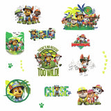 JUNGLE PAW PATROL Peel & Stick Wall Decals Chase Marshall Rubble Dogs Puppies Stickers - EonShoppee
